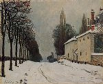 alfred sisley snow on the road louveciennes painting