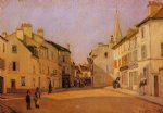 alfred sisley square in argenteuil painting