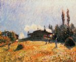 alfred sisley station at sevres painting