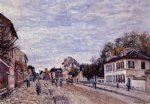 alfred sisley street scene in marly painting