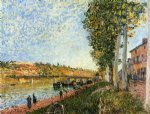 alfred sisley sunrise at saint painting