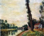 the banks of the loing by alfred sisley painting