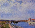 alfred sisley the barge port and saint painting