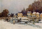 alfred sisley the blocked seine at port print