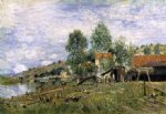 alfred sisley the boatyard at saint painting