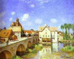 alfred sisley the bridge at moret painting