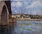 the bridge at saint by alfred sisley painting