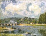 alfred sisley the bridge of sevres painting