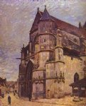 alfred sisley the church at moret winter painting 37545