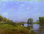 the island of saint by alfred sisley painting
