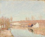 alfred sisley the loing and the slopes of saint art