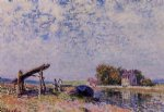 alfred sisley the loing canal at saint art