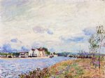 alfred sisley the mouth of the loing at saint art