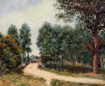 the path from saint by alfred sisley painting