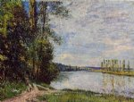 alfred sisley the path from veneux to thomery along the water evening art