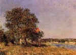 alfred sisley the plain of thomery and the village of champagne art