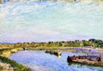 alfred sisley the port of saint mammes morning art