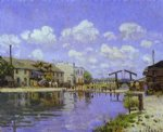 alfred sisley original paintings - the saint by alfred sisley