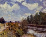 alfred sisley the seine at bougival vi art