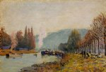 alfred sisley the seine at bougival viii art
