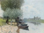 alfred sisley the seine at bougival painting 37477