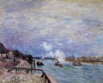 alfred sisley the seine at grenelle art