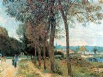 alfred sisley the seine at marly art