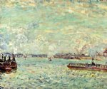 alfred sisley the seine at point du jour art
