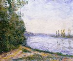 alfred sisley the seine near by art