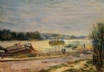 alfred sisley the seine near saint art