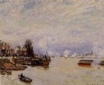 alfred sisley the seine view from the quay de pont du jour art