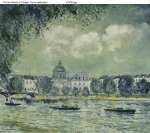 alfred sisley the seine with the institute of france art