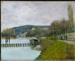 alfred sisley the slopes of bougival art