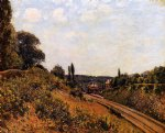 alfred sisley the station at sevres painting