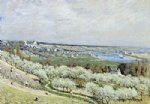 alfred sisley the terrace at saint painting