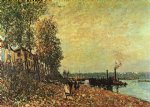 alfred sisley the tugboat painting