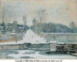 alfred sisley the watering place at marly painting