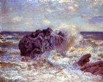 the wave lady s cove langland bay by alfred sisley painting