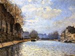alfred sisley view of the canal st. martin painting 37510