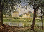 alfred sisley village on the banks of the seine art