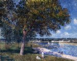 alfred sisley walnut tree in a thomery field painting-37516