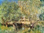 alfred sisley willows on the banks of the orvanne art