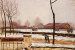 alfred sisley winter landscape moret paintings