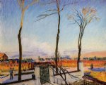 alfred sisley winter sun moret painting 37524