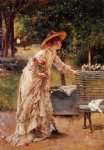 alfred stevens famous paintings - afternoon in the park by alfred stevens