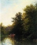 alfred thompson bricher on the mill stream painting 37165