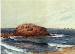 alfred thompson bricher rocks near the coast painting