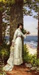 alfred thompson bricher under the seaside tree painting-37213