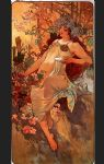 alphonse maria mucha acrylic paintings - autumn by alphonse maria mucha