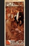 alphonse maria mucha watercolor paintings - flirt by alphonse maria mucha
